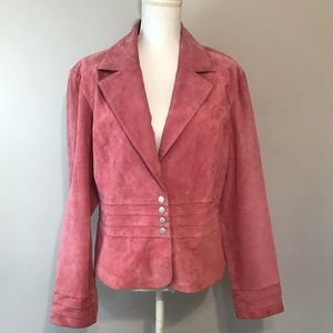 Live A Little Women's Pink Leather Jacket Size L